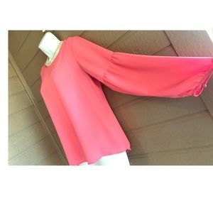 Coral Top with amazing sleeves- The Limited